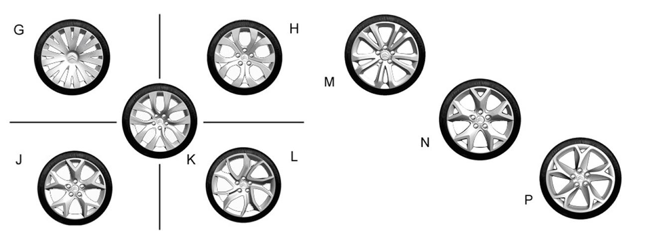 C5 X7 alkuperäiset alumiinivanteet