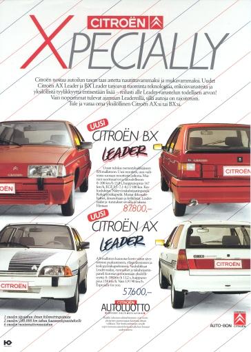 Leader -mallien suomiesite vuodelta 1988