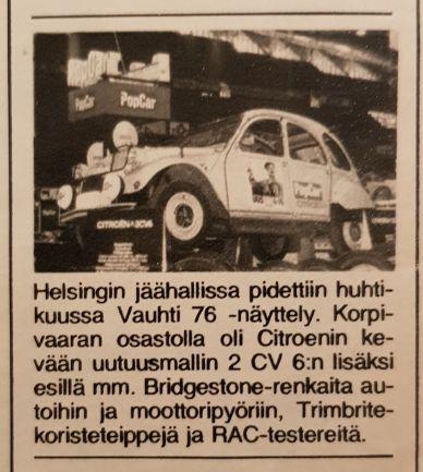 PopCar varusteltu 2CV 1976.